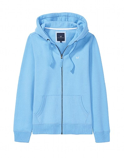 Zip Through Hoody In Sky Blue