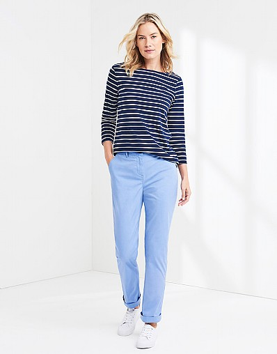 Essential Chino Trouser In Bluebell Blue