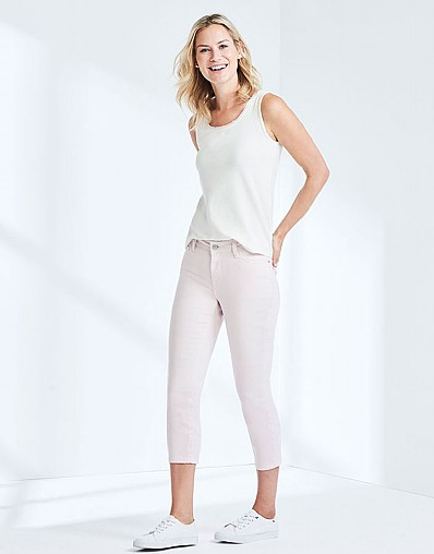 Cropped Skinny Jean In Classic Pink