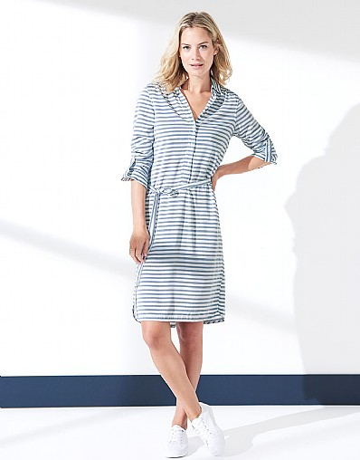 Carbis Stripe Shirt Dress