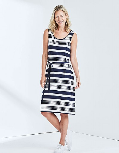 Caswell Jersey Midi Dress In Navy