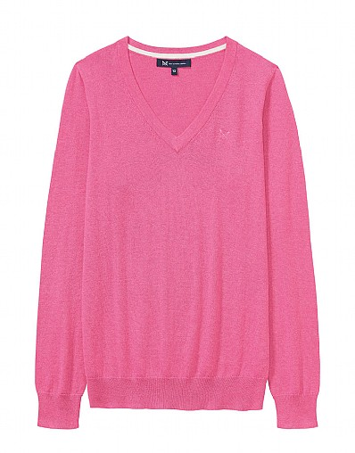 Foxy V Neck Jumper in Orchid Pink
