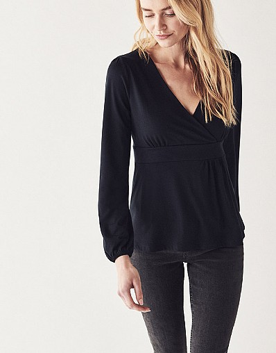 Long Sleeve Wrap Top