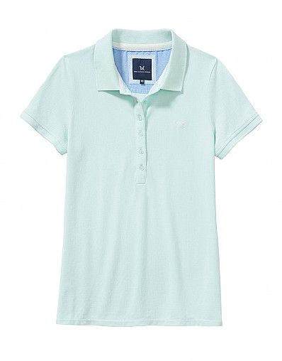 Classic Polo Shirt in Glass Blue