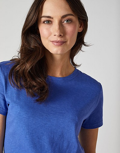 Classic Crew Neck T-Shirt in Amparo Blue