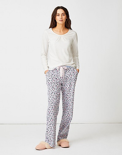 Flannel Pyjama Bottom in Ditsy Print