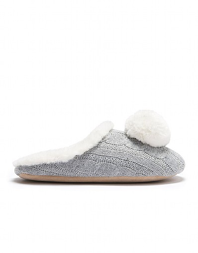 Cable Pom Slipper