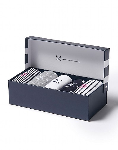 5 pack Bamboo Sock Box Set