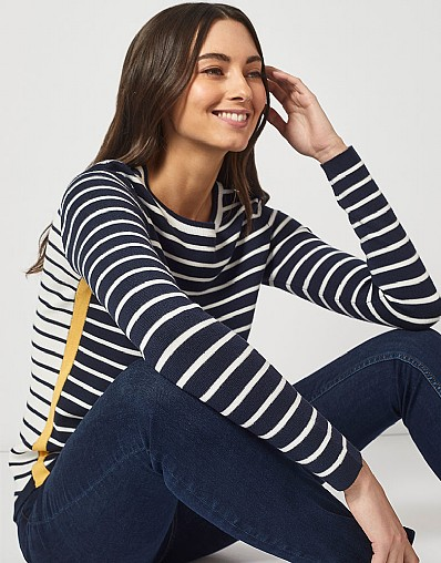 Mix Stripe Jumper in Yellow Stripe