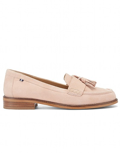 Tassel Loafer in Antique Pink