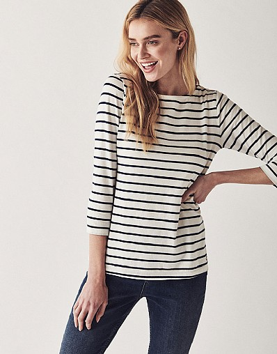 Essential Breton T-Shirt In White