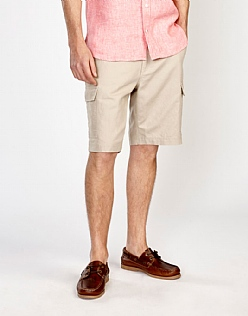 Hassop Linen Mix Cargo Short