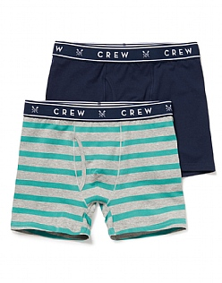 2 Pack Jersey Wde Stripe Boxers