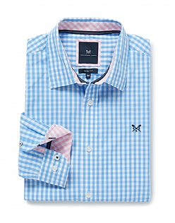 Crew Slim Fit Gingham Shirt