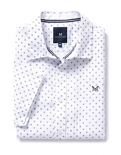 Banstead Short Sleeve Linen Printed Shirt