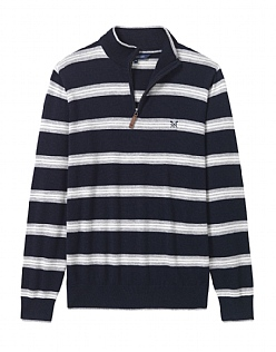 Merino Stripe Half Zip Jumper