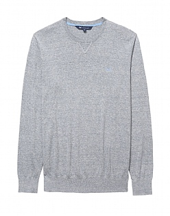Cotton Linen Crew Jumper