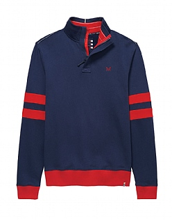 Crew Club Mens Half Zip Sweat