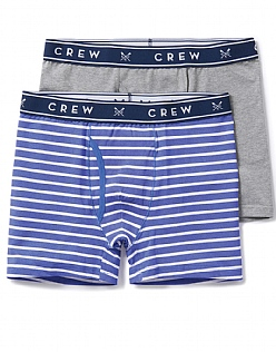 2 Pack Stripe/Plain Boxers
