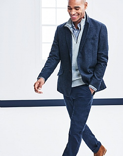 Ledbury Wool Blazer In Navy