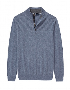 Erndale Cashmere Half Button Jumper