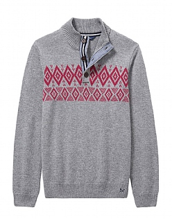 Fairisle Half Button Knit