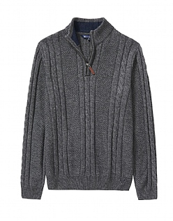 Lydford Cable Half Zip Knit
