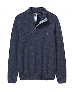 Half Button Merino Blend Nepp Jumper