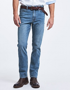 Parker Straight Leg Jean In Mid Wash Blue