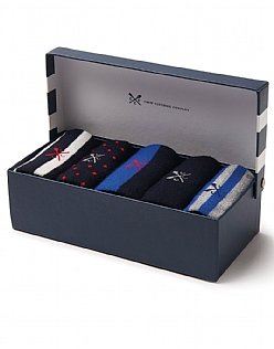 5 Pack Bamboo Sock Box
