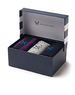 3 Pack Bamboo Sock Box