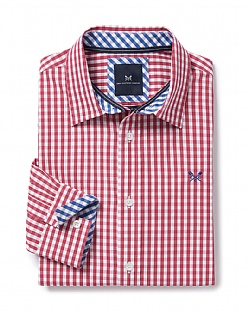 Crew Classic Fit Gingham Shirt In Claret Red