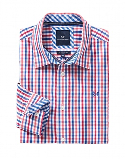 Crew Classic Fit Gingham Shirt In Red