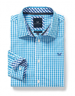 Crew Classic Fit Gingham Shirt In Salcombe Blue