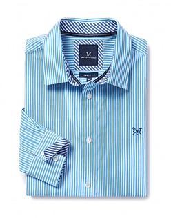 Crew Classic Fit Stripe Shirt In Salcombe Blue