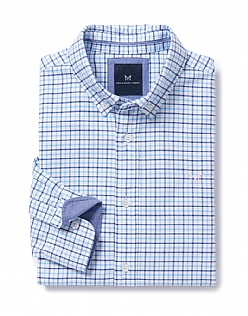 Moreton Classic Fit Check Shirt In Sky Blue