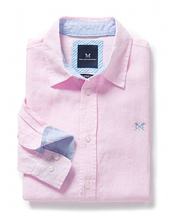 Classic Fit Linen Shirt in Classic Pink