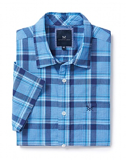 Hunstanton Short Sleeve Check Shirt In Navy