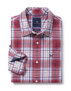 Towan Slim Fit Check Shirt in Red
