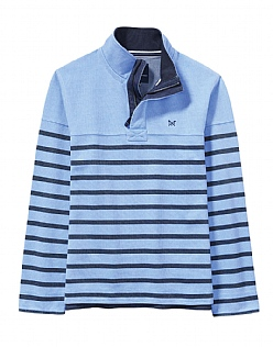 Padstow Pique Sweatshirt In Bluebell Blue