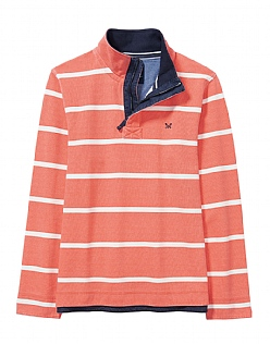 Padstow Pique Sweatshirt In Papaya Orange
