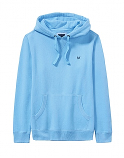Crew Logo Hoody In Sky Blue