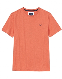 Crew Classic T-Shirt In Papaya Marl