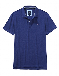 Classic Pique Polo Shirt In Bright Navy Marl