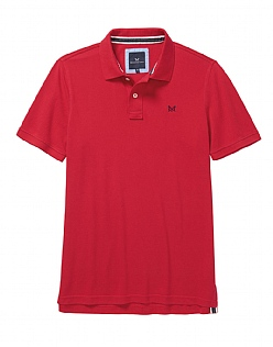 Classic Pique Polo Shirt In Classic Red