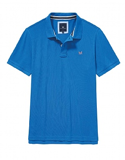 Classic Pique Polo Shirt In Marine Blue