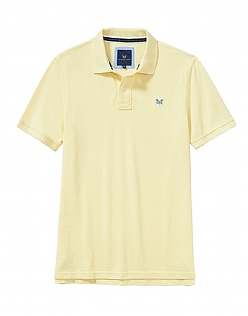 Classic Pique Polo Shirt In Pale Lemon
