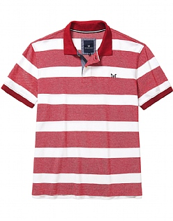 Oxford Pique Polo Shirt In Classic Red