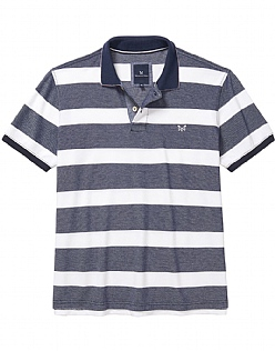 Oxford Pique Polo Shirt In Navy