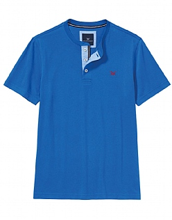 Harwood Henley T-Shirt In Marine Blue